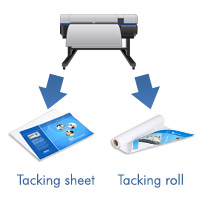 Inkjet Printable tacking sheet or roll