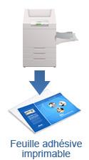 Feuilles adhésives imprimables laser
