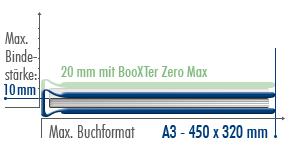 BooXTer Binding Size Chart