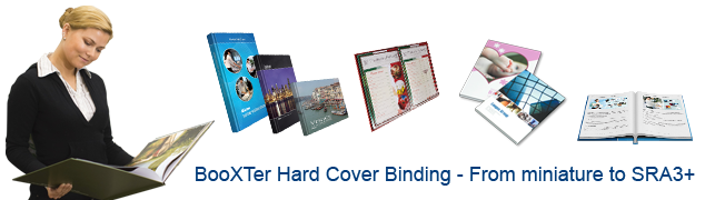 Samples of BooXTer Hard Cover Books