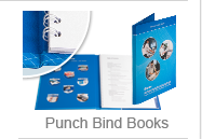 Cases for punch-bound booklets