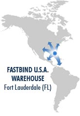 Fastbind U.S.A. warehouse in Fort Lauderdale, Florida